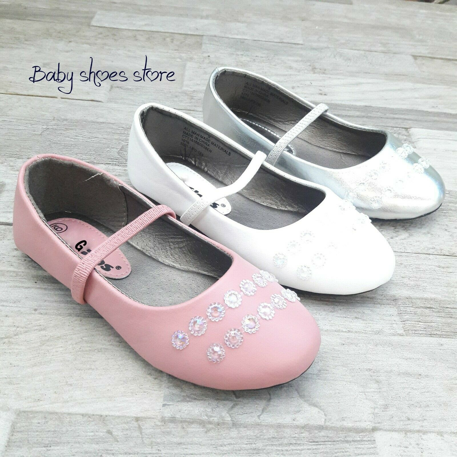 Infant Toddler Girls Ballet Flat Dress Shoes Size 4-9 New