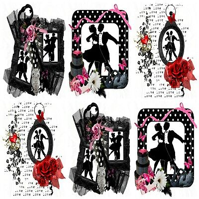 DANCING SILHOUETTES TOPPERS  Embellishments, Card Making Toppers, Card Toppers