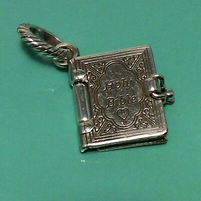Holy Bible Charm - Brighton ABC Silver Holy Bible (opens Up) Charm RARE  NWOT
