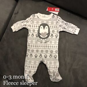 New with tags 0-3 month fleece sleeper