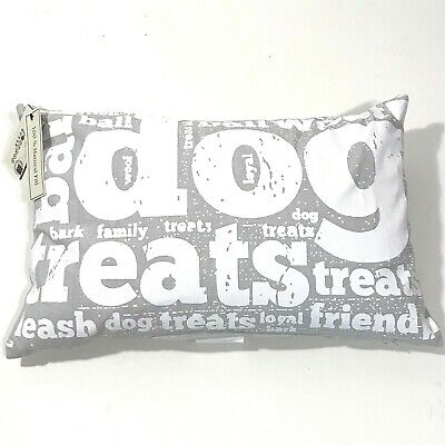 NEW Pet Pillow Dog Treats Park B. Smith Vintage House Puppy Gray Feather 18 x -