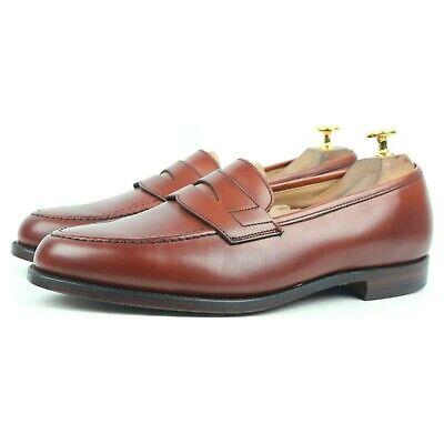 Crockett & Jones X Shipton & Heneage 'Wilton' Brown Leather Loafers UK 8 E