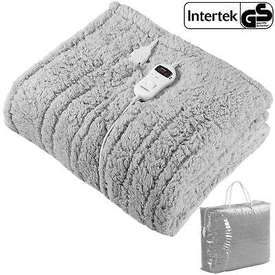 Manta eléctrica forro polar calienta camas 170x140cm 120V temperatura ajustable