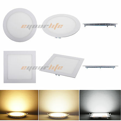 Square 15W Dimmable CREE LED Recessed Down Panel Light Cool White Lamp Bulb New