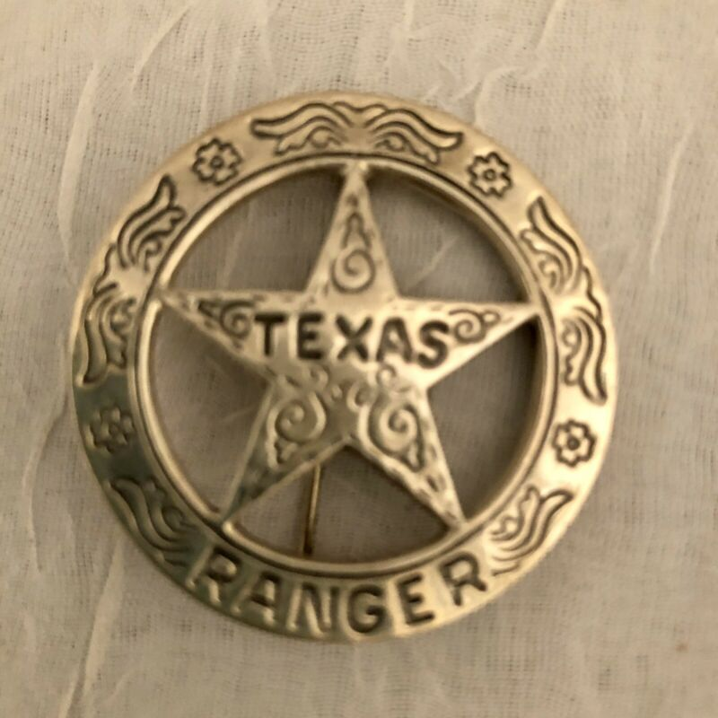 VGT Replica Texas Rangers Badge ,Cleaned, New Old Stock,In Storage For 20 Yrs
