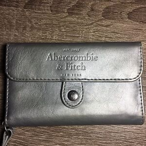 Abercrombie & Fitch silver I phone 5 wristlet