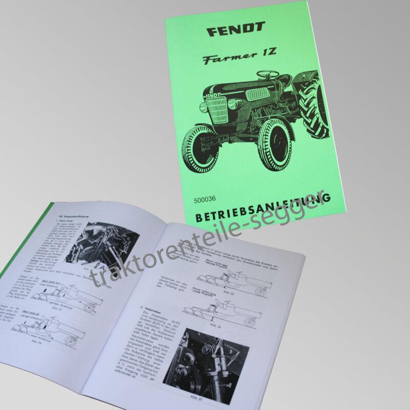 Fendt Betriebsanleitung  Farmer 1 Z Traktor Schlepper 500036 Foto 1