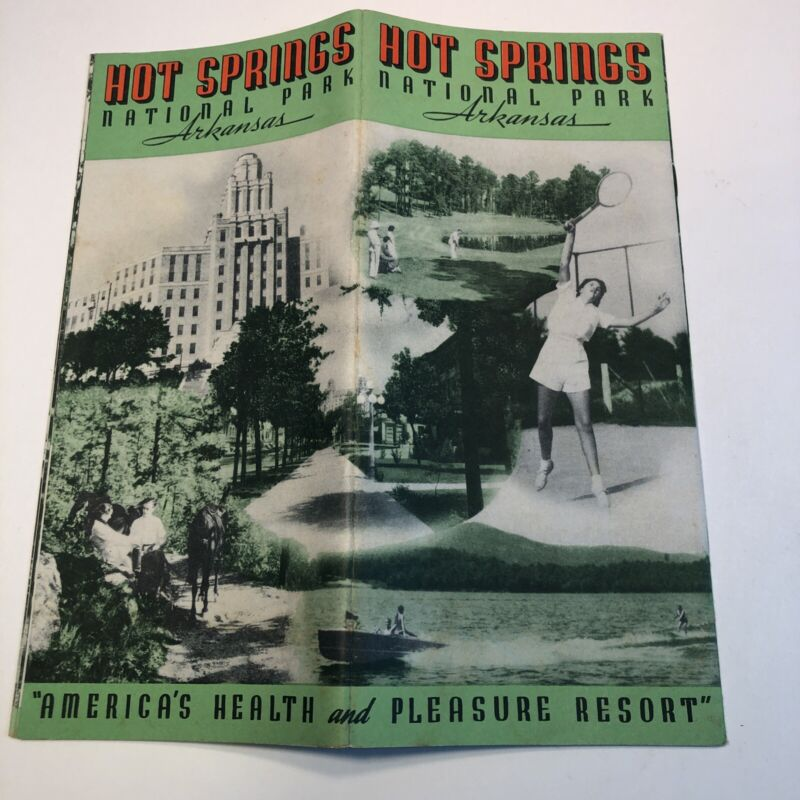 1939 Hot Springs Arkansas National Park brochure , Baths Nice!  VINTAGE Tourist