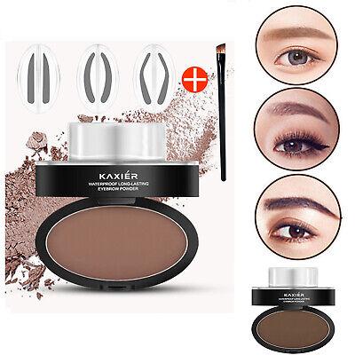 Eyebrow Stamp Powder Natural Delicate Shape Eye Makeup Mirror Gel Waterproof New