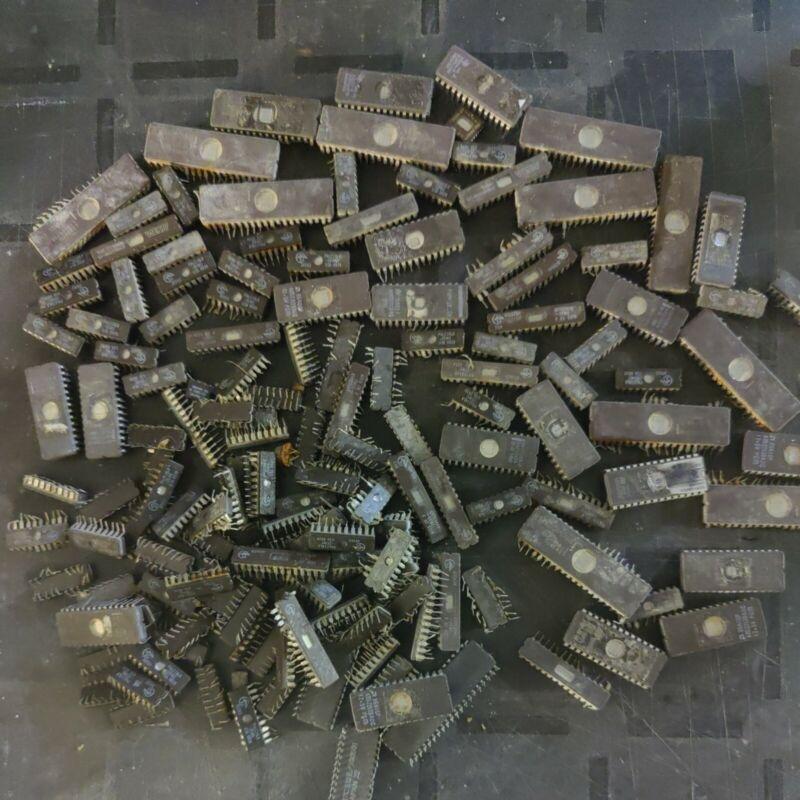 720 Grams Of Scrap Windowed Eprom For Precious Metal Reclaim