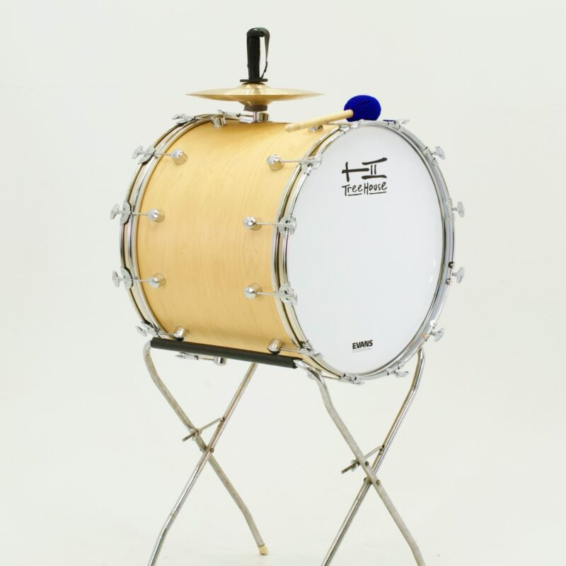 TreeHouse Custom Drums 20x24 Plied Maple Mexican Tambora Sinaloense - Natural