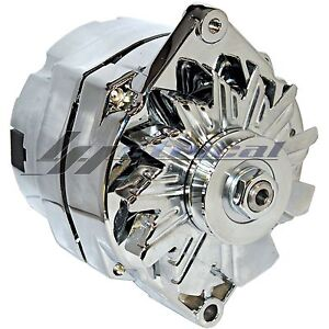 CHROME-HIGH-OUTPUT-ALTERNATOR-FOR-CHEVY-HOLDEN-SBS-BBC-1-ONE-WIRE-HOOKUP-200-AMP