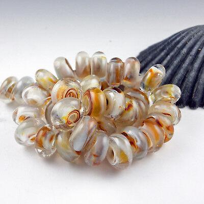 """8 Handmade Lampwork Glass Beads, Artist made Beads - """"September Morning"""""""