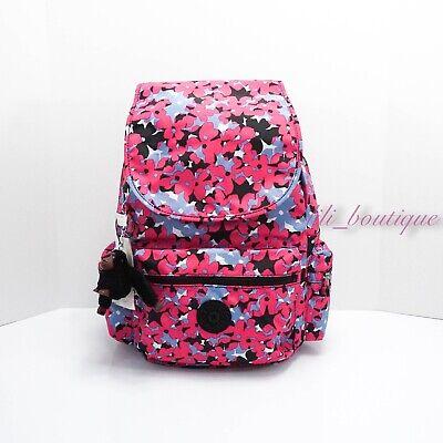 NWT New Kipling BP4391 Ezra Travel Bag Backpack Polyamide Spicy Floral Pink $114