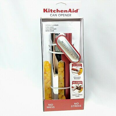 KitchenAid can and bottle opener Empire red  magnet bottle opener hand held NEW