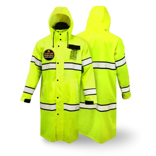 KwikSafety TORRENT | High Visibility ANSI Class 3 Safety Trench Coat