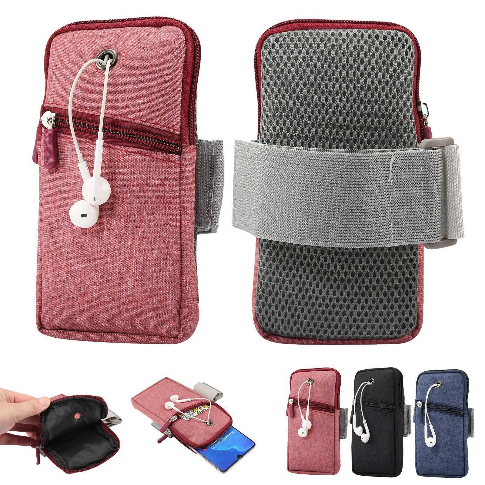 Sport Elastic Strap Arm Jog Wallet Zip Case Fr iPhone/Samsun