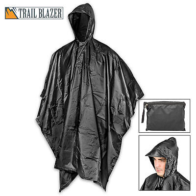 MILITARY GRADE Waterproof Jacket Clear Raincoat Rain Coat Ho