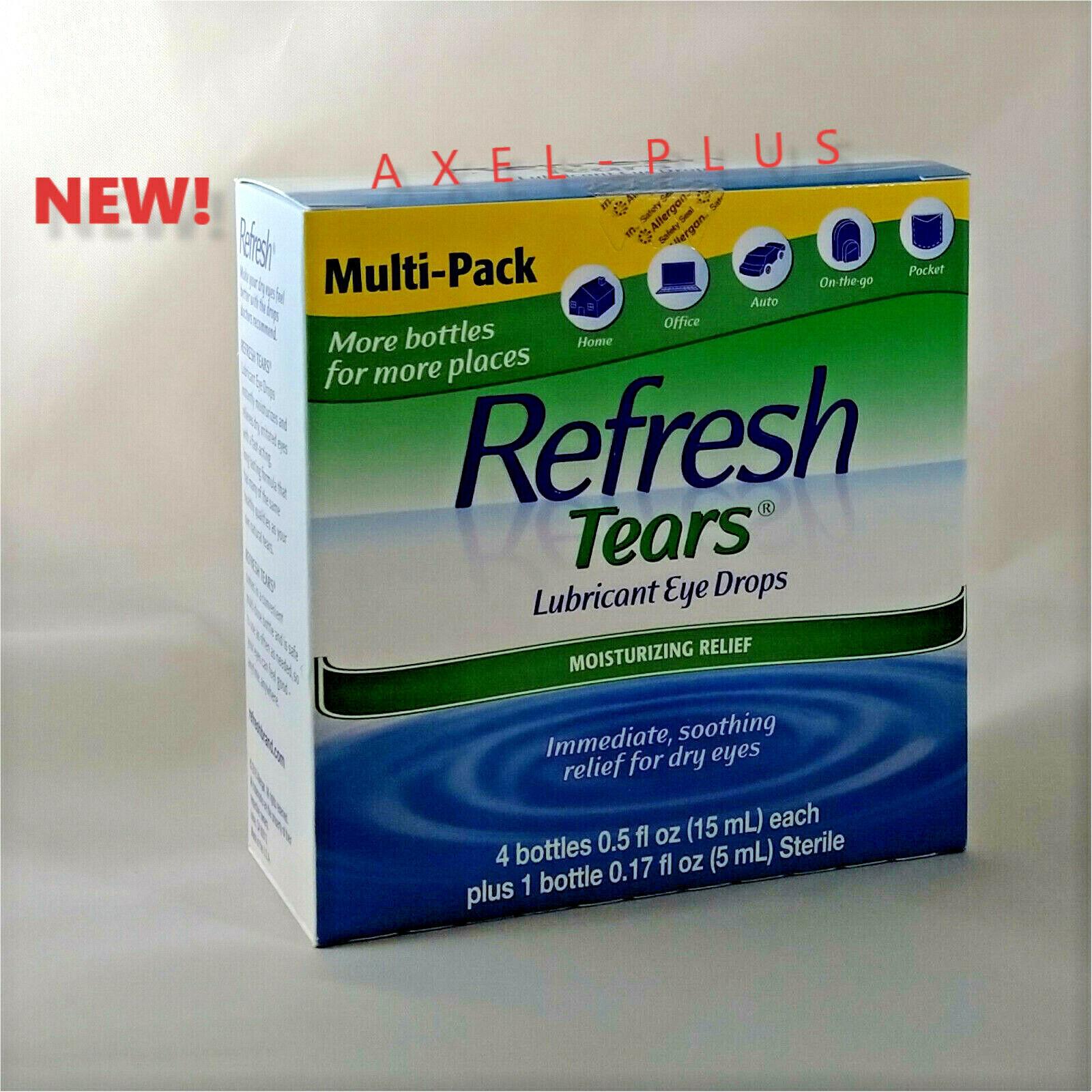 Refresh Tears® Lubricant Eye Drops Multi-pack 4 Plus 1   NE