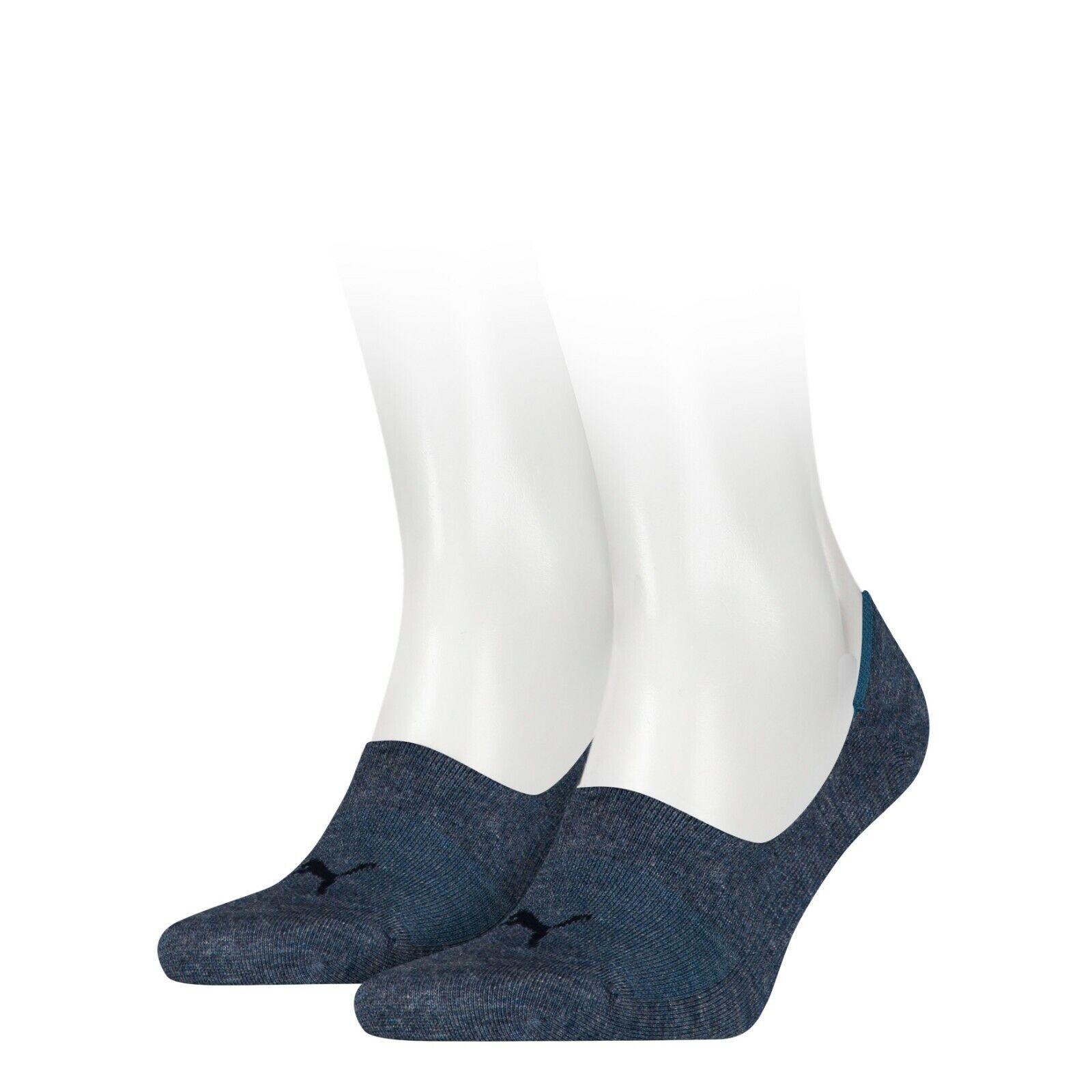 2 Paar PUMA Footie Unisex Damen Herren Invisible Sneaker Socken Größen 35-46