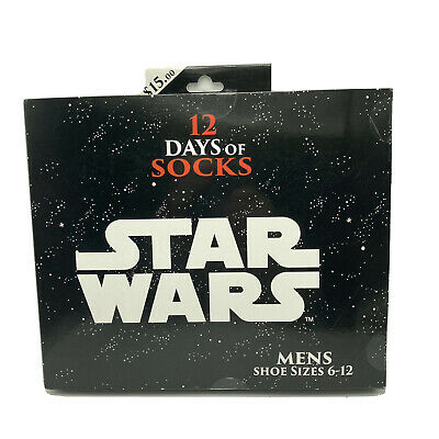 Star Wars 12 Days of Socks Advent Calendar Discontinued Target Exclusive Mens