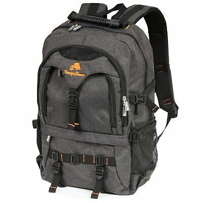 CampFeuer Business Rucksack 17 Zoll Notebook Laptop Backpack I USB schwarz gross