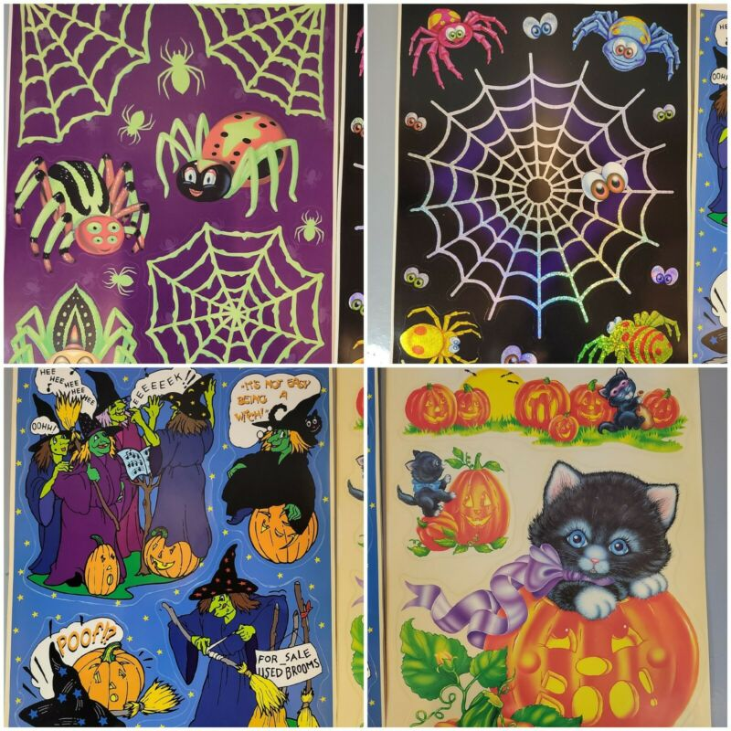 Vintage Color Clings Static Cling Happy Halloween Fall Window Decoration 1997