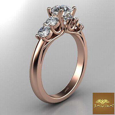 5 Stone Trellis Setting Round Diamond Engagement Prong Ring GIA F Color SI1 1Ct  10