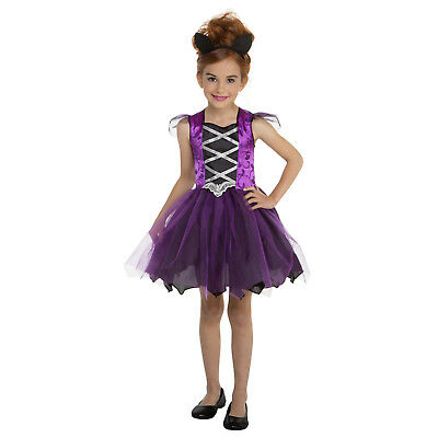 Kid's Flirty Bat Girl Dress Up Costume Cosplay Halloween Party Outfit - Girl Bat Costume