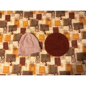 Winter Woman Hat: Pink and Maroon