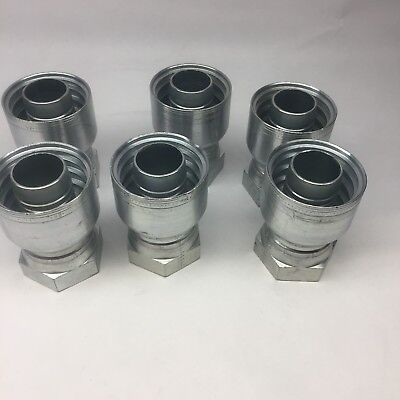 Lot Of 6 Eaton 897-668-2424 1 X 1 Female Swivel Crimp Hose Fitting Straight