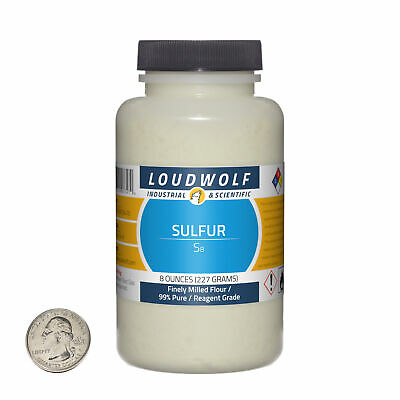 Sulfur 8 Ounce Bottle 99 Pure Reagent Grade Finely Milled Flour Usa