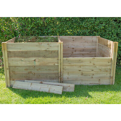 Forest Slot Down Compost Bin Extension Kit Pressure Treated Timber  3FT x 3FT