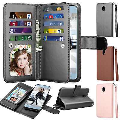 For Samsung Galaxy J3 Star/Orbit /J3 V 2018 Flip Leather Card Wallet Phone Case