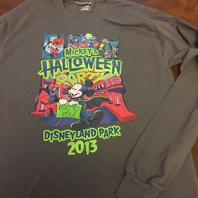 Disneyland Mickey's Halloween Party 2013 Long Sleeve Shirt Medium  Boo To You