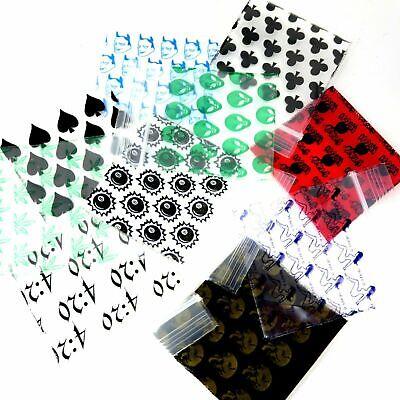 1.5 X 1.5 1000 Pack 1515 Apple Baggies - 10 Design Mix - Printed Zip Lock Bags