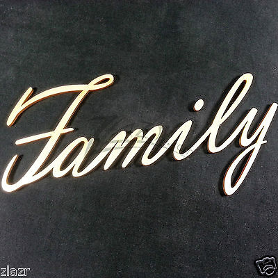 """(1) Large Wood """"Family"""" Word for Wooden Celebrate Birthday Date Board USA Made!"""