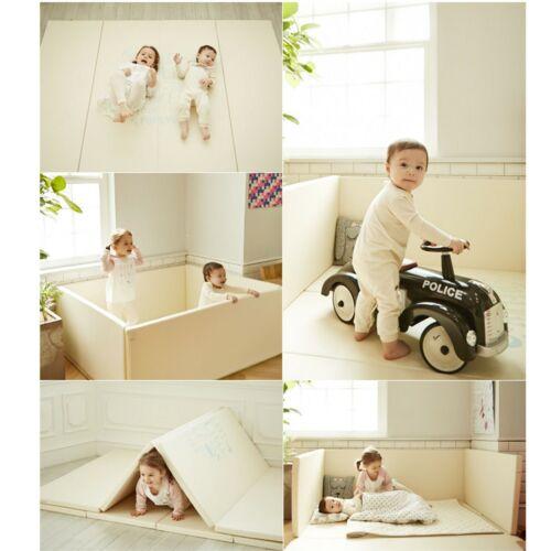 Baby Bedding Bumper Mat, Floor Mat + Guard, BPA Free Baby Play Mat with Fence