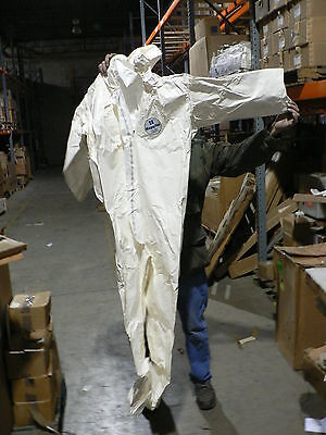 Tyvek Large Saranex Chemical Suit W Hood