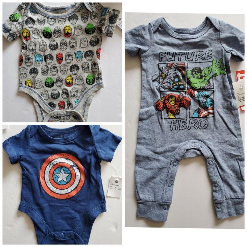Marvel Avengers Baby Union Body Suit Romper Jumpsuit Clothes 3Pcs Set