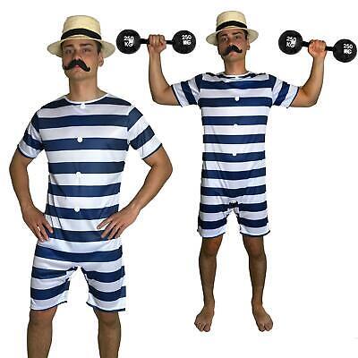 20s Mens Old Time Bathing Suit 20s Victorian Beach Swimsuit Fancy Dress - 20s Mens