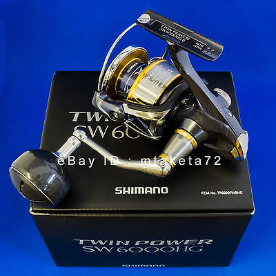 Shimano 15 TWIN POWER SW 6000HG, Spinning Reel Made In Japan, 033185