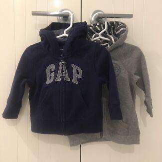 2 x Baby boy hoodies - size 1