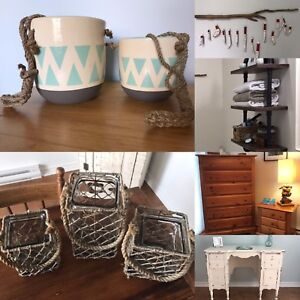 Home Decor (Pots, Glass Candle Holders, Driftwood Ornaments