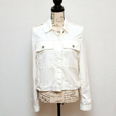 Gap Jacket Womens Size Small White Long Sleeve Button Front Lightweight for sale  Shipping to India