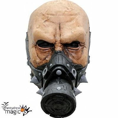 Deluxe Latex Biohazard Agent Halloween Costume Movie Scary Horror War Gas Mask - Scary Halloween Gas Mask