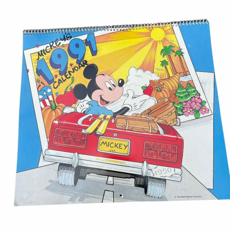 1991 Mickey Mouse calendar Disney unused