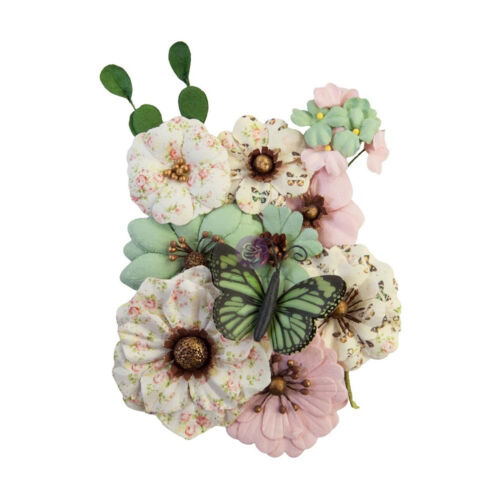 Prima Marketing Mulberry Paper Flowers SEWN WITH LOVE/MY SWEET 652845