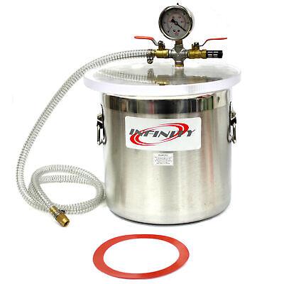 12L Vacuum Chamber Stainless Steel Degassing 3 Gallon Pump Degassing Chamber segunda mano  Embacar hacia Argentina