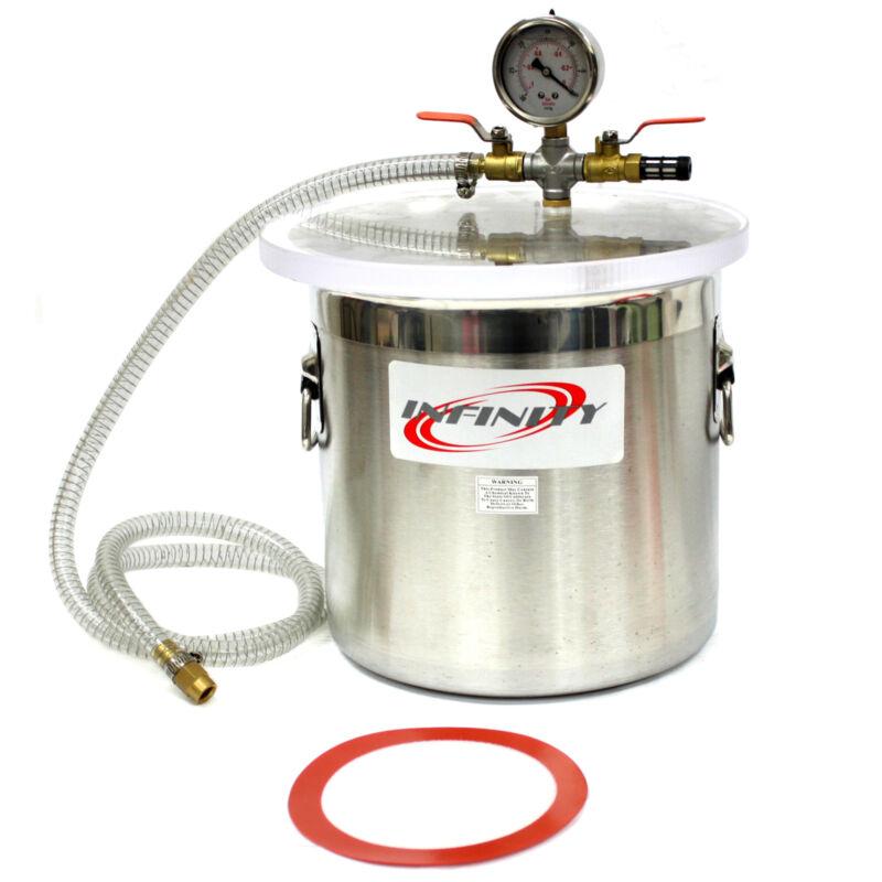 12L Vacuum Chamber Stainless Steel Degassing 3 Gallon Pump Degassing Chamber